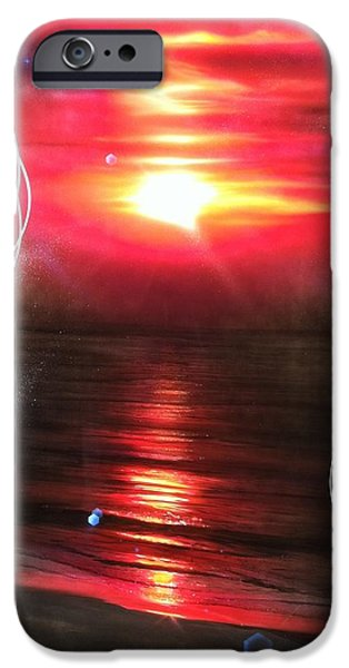 Sunset Prints iPhone Cases - Red Earth iPhone Case by Christian Chapman Art