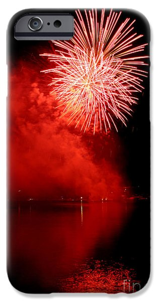 4th July iPhone Cases - Red fire iPhone Case by Martin Capek