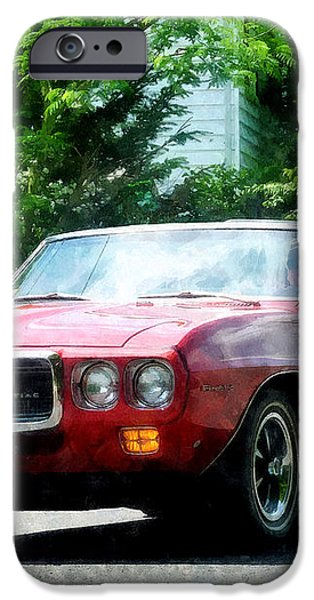 Red Firebird Convertible iPhone Case by Susan Savad