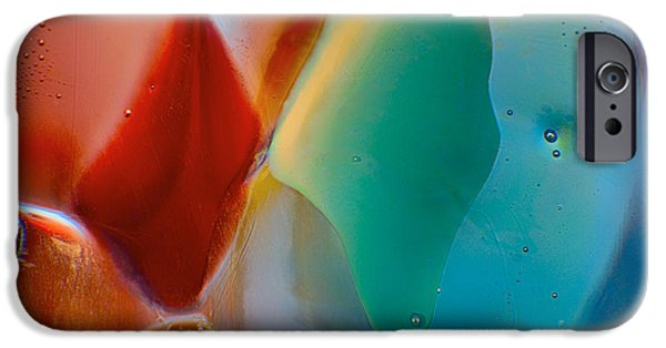 Nature Abstracts Glass iPhone Cases - Red Fish Green Fish iPhone Case by Omaste Witkowski