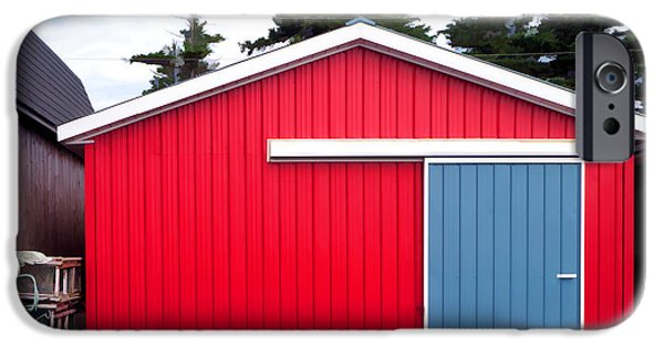 Shed iPhone Cases - Red Fishing Shack PEI iPhone Case by Edward Fielding