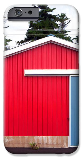 Red Fishing Shack PEI iPhone Case by Edward Fielding