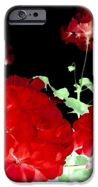 Red Geraniums iPhone Case by Will Borden