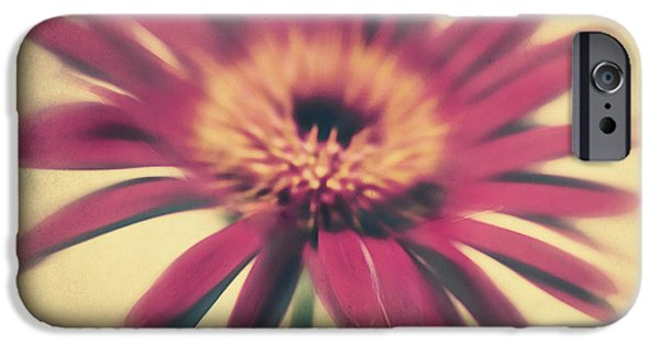 Texture Flower iPhone Cases - Red Gerbera iPhone Case by Angela Doelling AD DESIGN Photo and PhotoArt