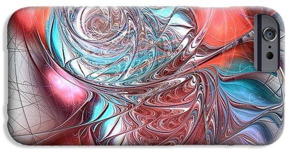 White iPhone Cases - Red Glass Fish iPhone Case by Anastasiya Malakhova