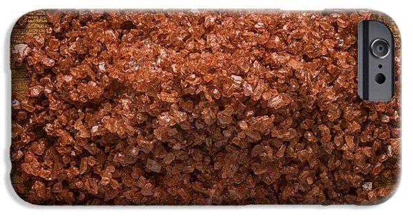 Mounds iPhone Cases - Red Gold Hawaiian Sea Salt iPhone Case by Steve Gadomski