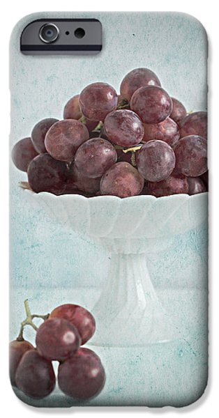 red grapes  iPhone Case by Corinna  Gissemann