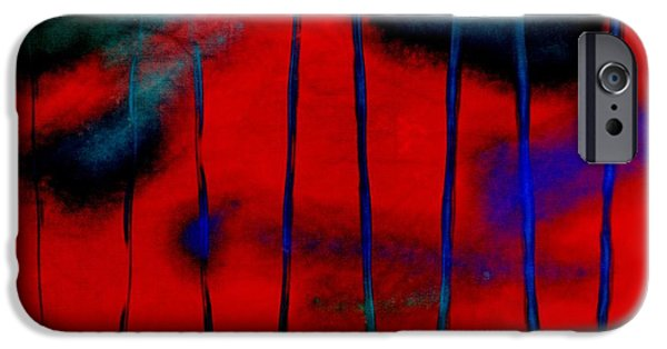 Becky Digital Art iPhone Cases - Red Green Blue Texture iPhone Case by Becky Hayes