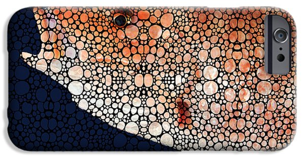 Mosaic iPhone Cases - Red Grouper Fish - Florida Art By Sharon Cummings iPhone Case by Sharon Cummings