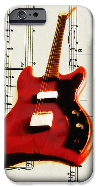 Red Guitar iPhone Case by Bill Cannon