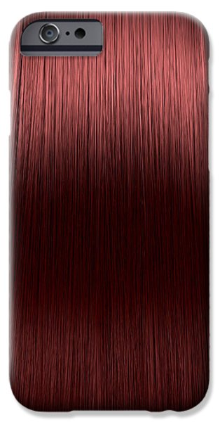 Hairstyle iPhone Cases - Red Hair Perfect Straight iPhone Case by Allan Swart