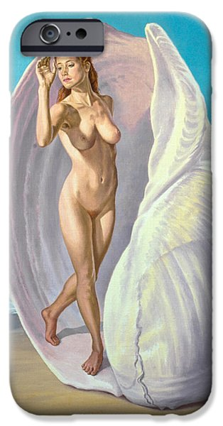 Figures Paintings iPhone Cases - Red-haired Venus iPhone Case by Paul Krapf