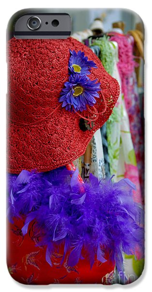 Boa Constrictor iPhone Cases - Red Hat Society iPhone Case by Amy Cicconi