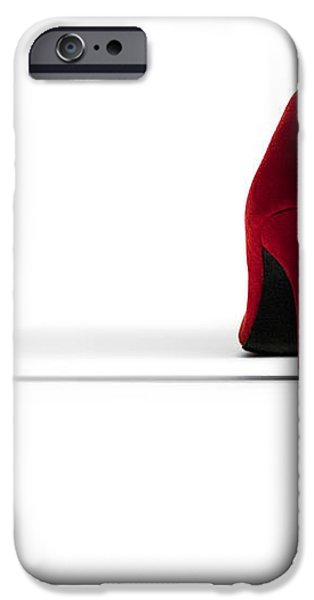 Red High Heel Shoes iPhone Case by Natalie Kinnear