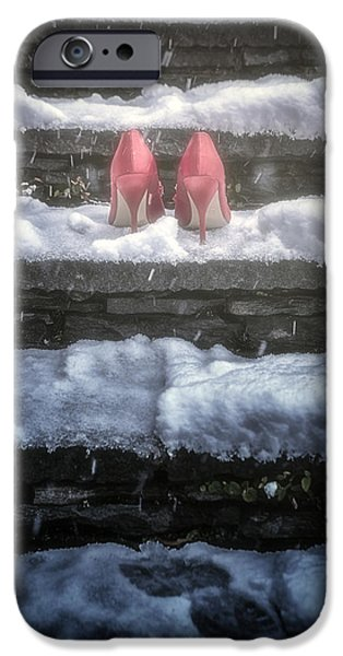 Eerie iPhone Cases - Red High Heels iPhone Case by Joana Kruse