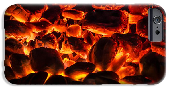 Burned Clay iPhone Cases - Red Hot 2 iPhone Case by Bradley Clay