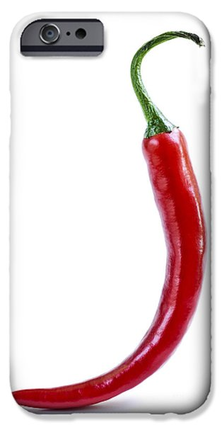 Hot Peppers iPhone Cases - Red hot chili pepper iPhone Case by Elena Elisseeva