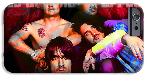 Red Hot Chili Peppers iPhone Cases - Red Hot Chili Peppers iPhone Case by Marvin Blaine