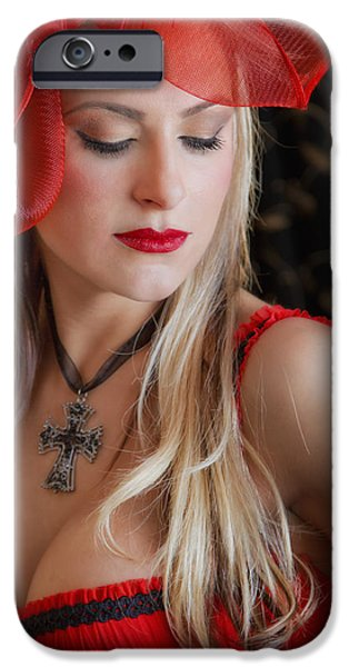 Seductive Photographs iPhone Cases - Red Hot iPhone Case by Evelina Kremsdorf