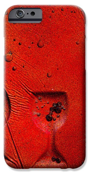 Tile Glass Art iPhone Cases - Red Ice Wine Tile iPhone Case by Rick Silas