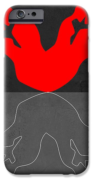 Love Making Paintings iPhone Cases - Red Kiss 2 iPhone Case by Naxart Studio