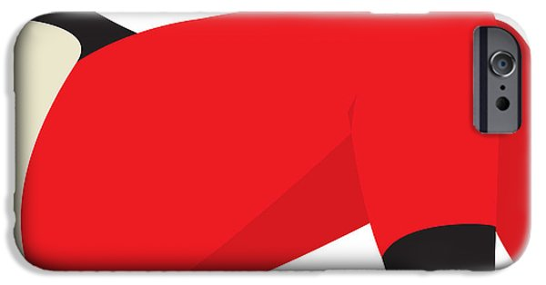 Close Up Drawings iPhone Cases - Red Leggings iPhone Case by Igor Kislev