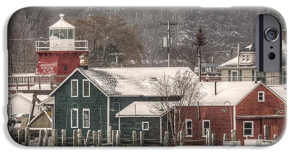 Recently Sold -  - East Village iPhone Cases - Red Lighthouse District iPhone Case by Bill Pohlmann