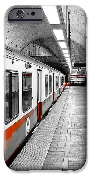 Red Line iPhone Case by Charles Dobbs