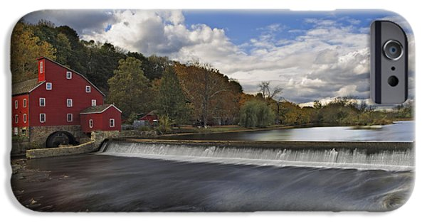 United States iPhone Cases - Red Mill At Clinton New Jersey iPhone Case by Susan Candelario