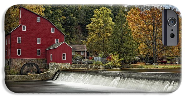 Fall iPhone Cases - Red Mill At Clinton iPhone Case by Susan Candelario