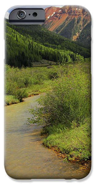 Pines iPhone Cases - Red Mountain Creek - Colorado  iPhone Case by Mike McGlothlen