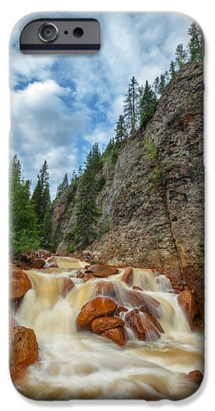 Red Rock iPhone Cases - Red Mountain Creek iPhone Case by Darren  White