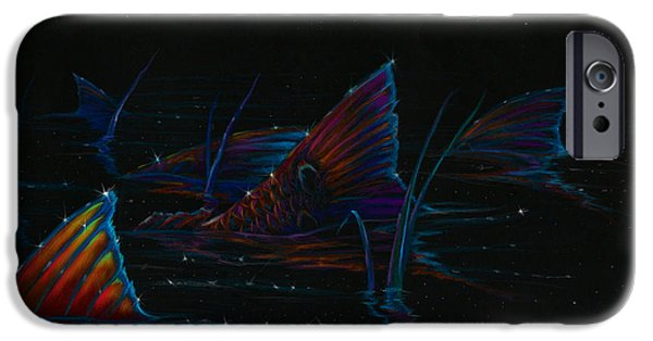 Redfish iPhone Cases - Red night  iPhone Case by Yusniel Santos