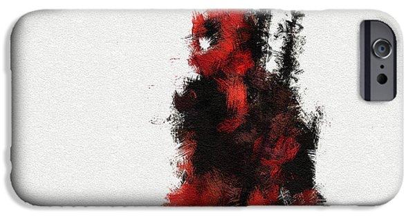 Xmen iPhone Cases - Red Ninja iPhone Case by Miranda Sether