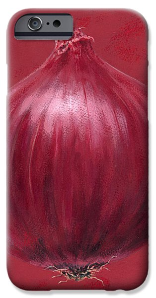 Vegetables iPhone Cases - Red Onion iPhone Case by Brian James
