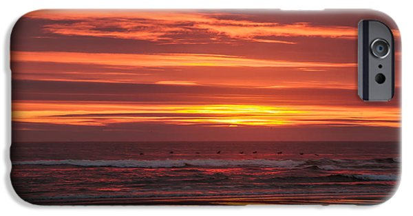 Cape Disappointment iPhone Cases - Red  Pacific iPhone Case by Robert Bales