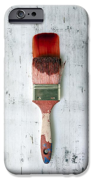 Eerie iPhone Cases - Red Paint iPhone Case by Joana Kruse