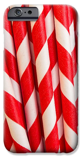Red Paper Straws iPhone Case by Edward Fielding