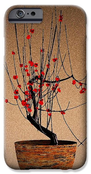 red plum blossoms iPhone Case by GuoJun Pan