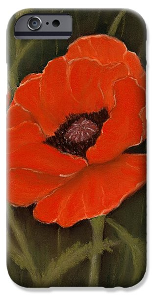 Close Pastels iPhone Cases - Red Poppy iPhone Case by Anastasiya Malakhova