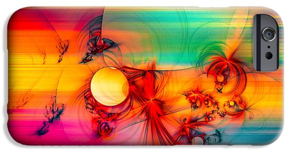 Modern Abstract iPhone Cases - Red Rabbit iPhone Case by Modern Art Prints