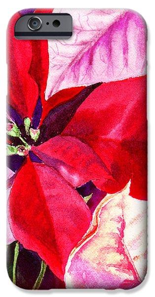 Red Red Christmas iPhone Case by Irina Sztukowski