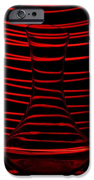 Abstractions iPhone Cases - Red rhythm iPhone Case by Davorin Mance
