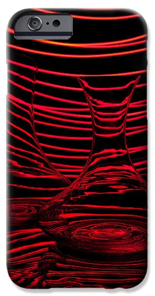 Abstractions iPhone Cases - Red rhythm II iPhone Case by Davorin Mance