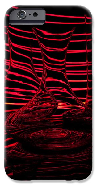Red rhythm III iPhone Case by Davorin Mance