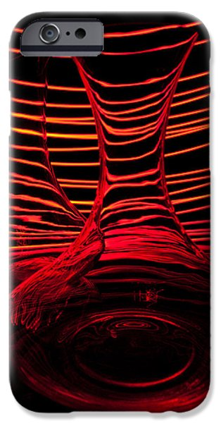 Abstractions iPhone Cases - Red rhythm IV iPhone Case by Davorin Mance