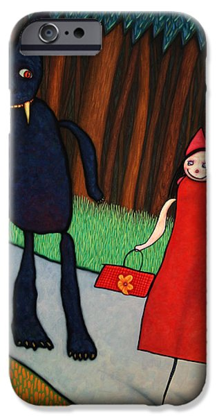 Storybook iPhone Cases - Red Ridinghood iPhone Case by James W Johnson