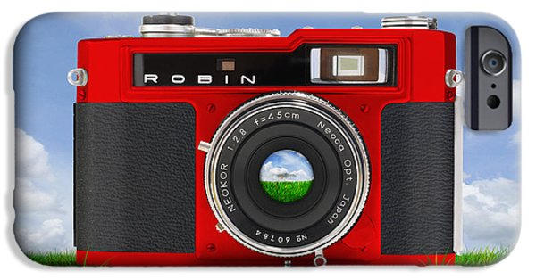 Rangefinder iPhone Cases - Red Robin iPhone Case by Mike McGlothlen
