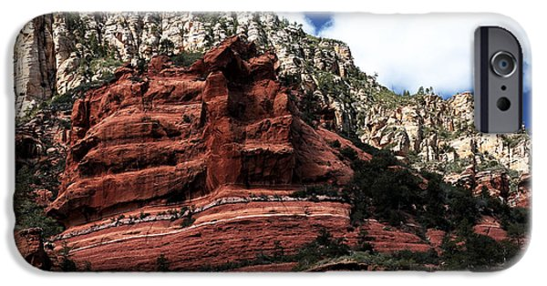 Oak Creek iPhone Cases - Red Rock at Oak Creek iPhone Case by John Rizzuto