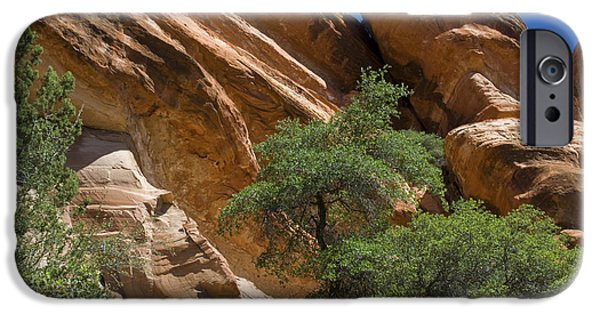 Sedona iPhone Cases - Red Rock At Palatki Red Cliffs iPhone Case by Ellen Thane